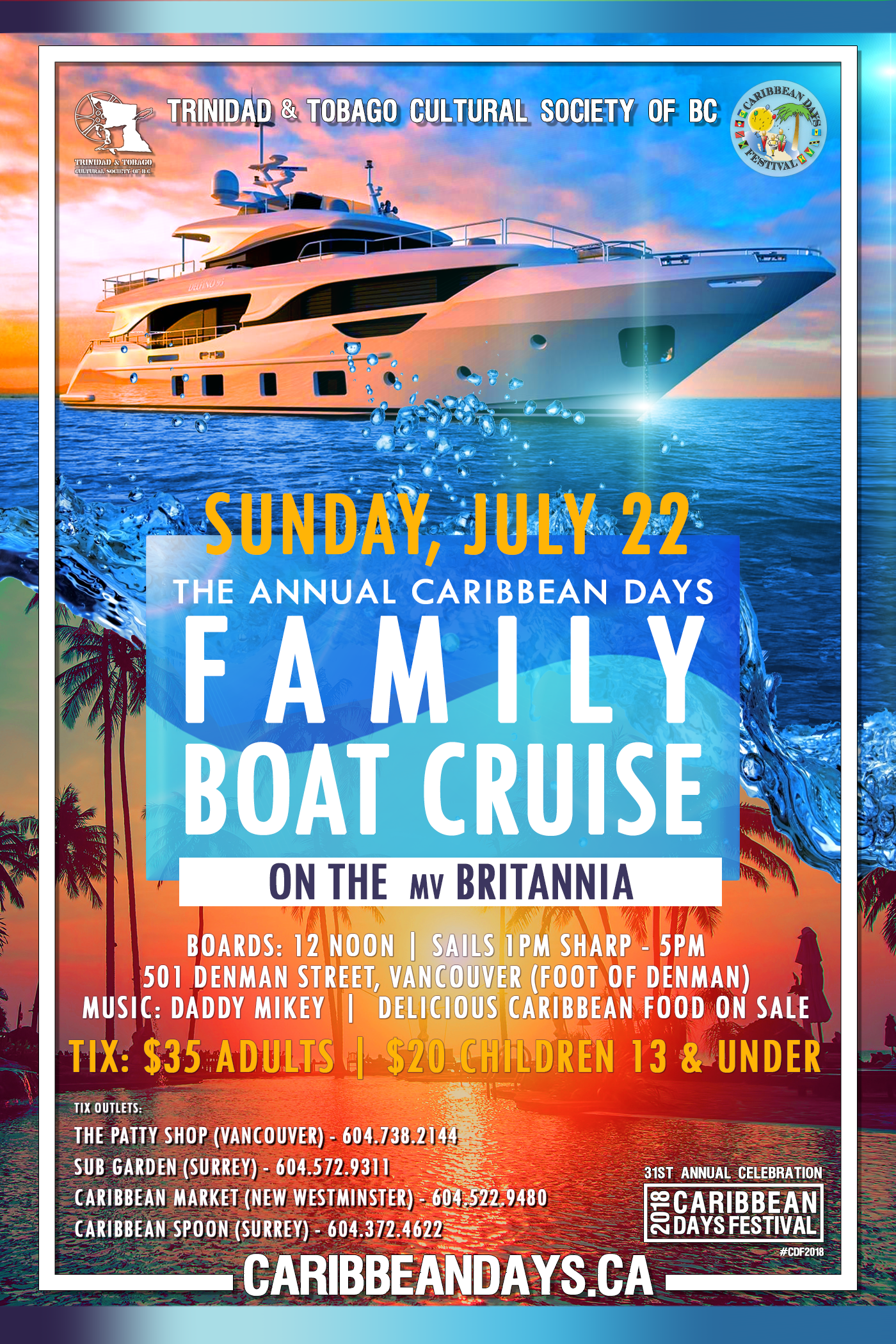 caribbean days family boat cruise